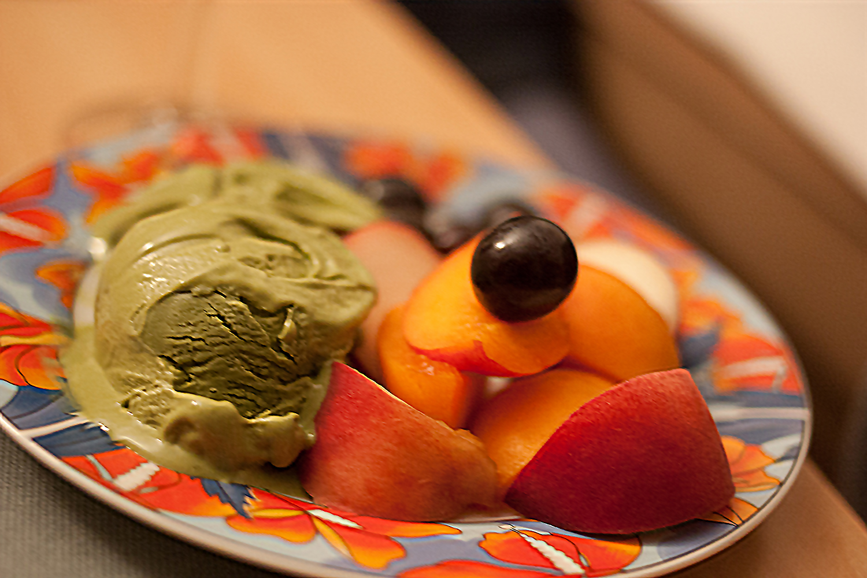 glace au th vert japonais recette r aliser en sorbeti re. Black Bedroom Furniture Sets. Home Design Ideas