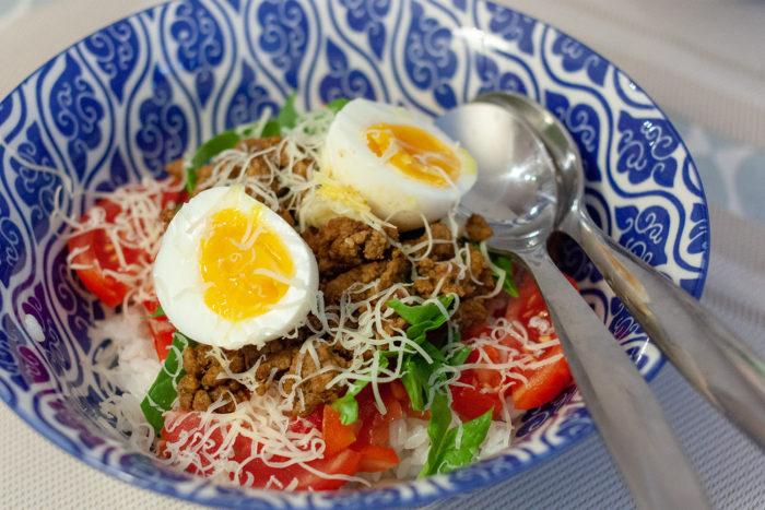 taco rice d'Okinawa