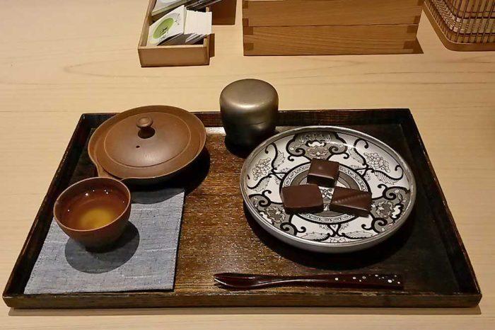 Tasse et théière de Gyokuro