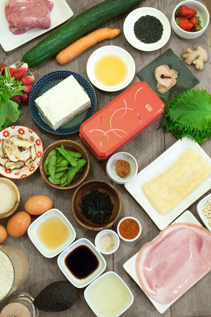 ingredients du bento