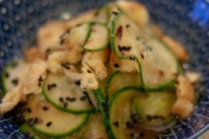 concombres vinaigrés à la japonaise